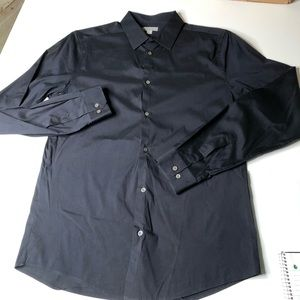 Cos Black Size 15 Small Casual Button Down Shirt